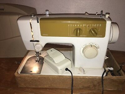 Portable Singer Sewing Machine Model 344C With Foot Pedal