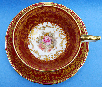 Antique Aynsley Bailey Hand Painted Tea Cup And Saucer