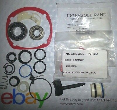 "Ingersoll Rand 2145 Tk2+2145 K75 Button Kit+2141 A329 Reverse Valve+1"" Ring Kit"