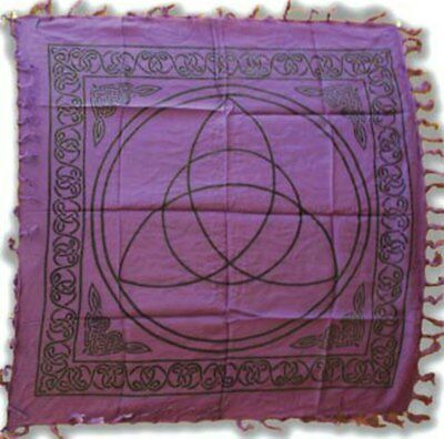 "Purple Triquetra Altar Cloth 36"" x 36"" Witch Wicca Pagan"