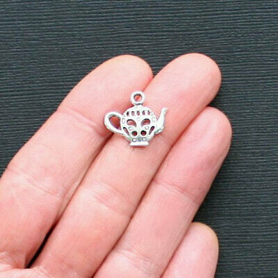 SC2082 10 Umbrella Charms Antique Silver Tone 2 Sided