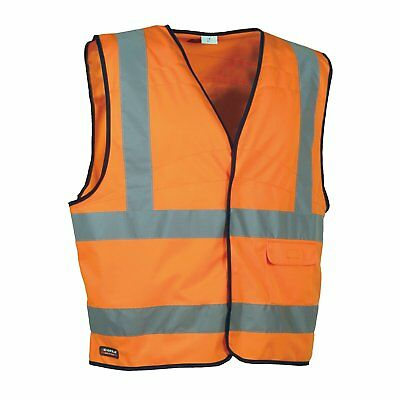 Cofra Safety Vest V Clear 073-1 High Visibility Vest 4XL, in the warning colour