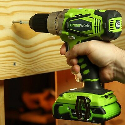 Greenworks 37012B G24 24V Cordless Lithium-Ion 1/2 In. Drill Driver