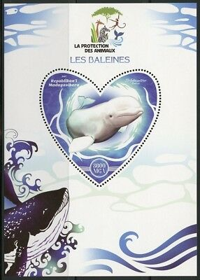 Madagascar  2017 The Protection Of Animals Whales Souvenir Sheet Mint Nh