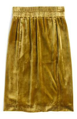 NWT FA '17 J.Crew Velvet Pull-on Skirt in Vintage Gold XS S M XL *Sold Out