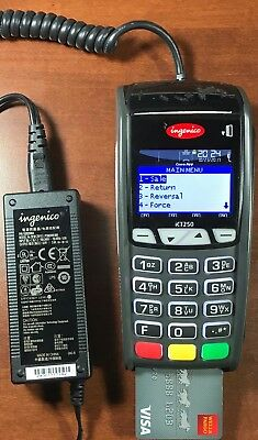 Ingenico ICT250 EMV/NFC Dual Comm Use With high speed internet and phone line