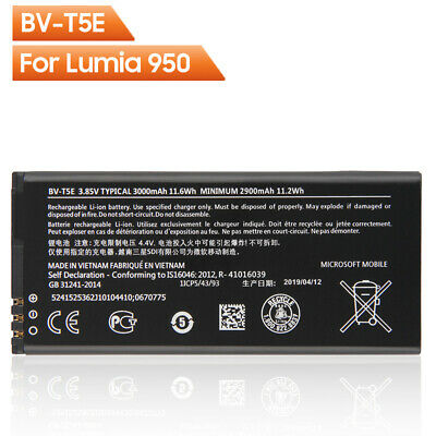 100% New Battery BV-T5E For Microsoft Lumia 950 RM-1106 RM-1104 RM-110 McLa