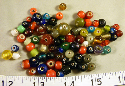 Large Lot White Heart Trade Beads Hudson's Bay Company Venetians 150+ Years Old