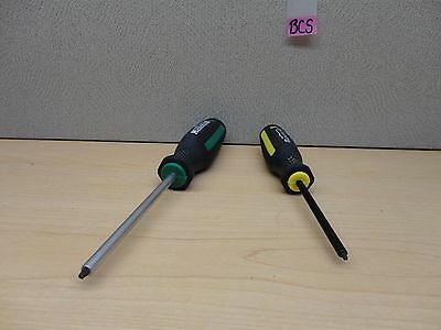 "Set Of 2 Mastercraft Robertson #0 X 3"", #1 X 4"", Square Head Screwdriver Bcs"