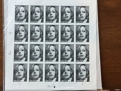 US 3943 GRETA GARBO mint sheet of 20