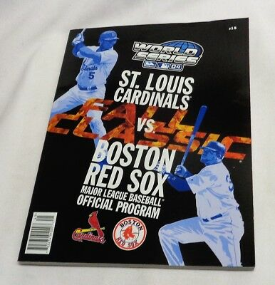 Official 2004 World Series Program Magazine Boston Red Sox St Louis Cardinals