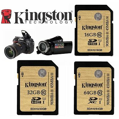 SD Card 32GB 64GB 16G Kingston Extreme Pro Ultimate SDHC SDXC Memory DSLR Camera
