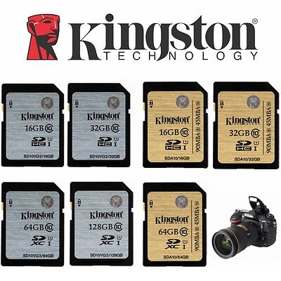 SD Card 32GB 64GB 16GB 128GB Extreme Kingston SDHC SDXC Class10 HD Video Camera