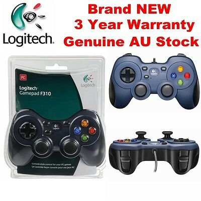 Logitech F310 Game Controller with Program Button PC Gamepad Gaming Console NEW