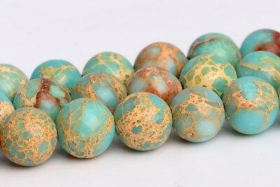 6MM Natural Faint Blue Sea Sediment Imperial Jasper AAA Round Loose Beads 15.5""