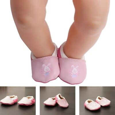 Pink rabbit Doll shoes Wear for 43cm Baby Born zapf Kid  Baby Toy Gift Accessory