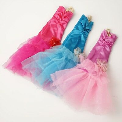 Handmade Fashion Fishtail Skirt Mermaid Dress Party Clothes Gown for Barbie Doll