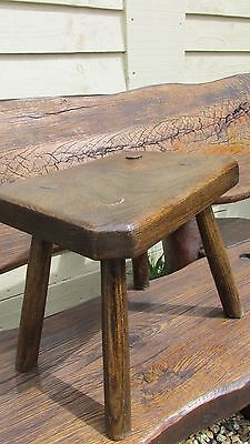 Antique elm milking stool country kitchen