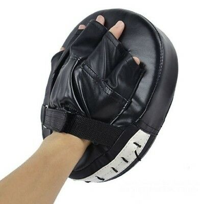 1XBoxing Mitt Target Focus Punch Pad MMA Karate Thai Kick Training Gloves New