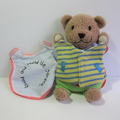 Do Me Up! activity soft cloth book Round Garden Teddy Bear baby soft toy dress