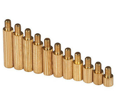Male Female Kurled ROUND Standoffs Support M2*3+3-M2*25+3 Solid Brass Spacer