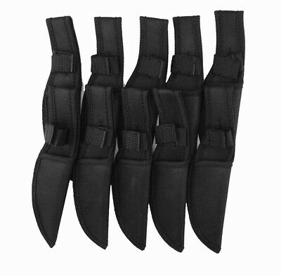 "Black Nylon Fixed Blade Knife Belt loop Sheath for 3.9"" blade Case pouch Gift"