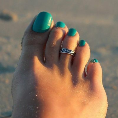 New Silver Toe Ring Unisex Celtic Style Adjustable Beach Jewellry UK SELLER
