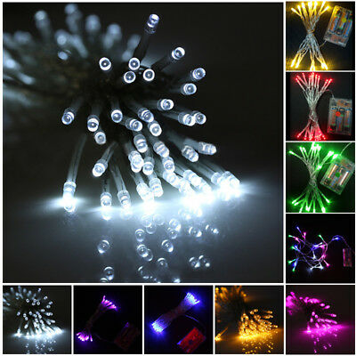 10/20/30/40/50/80 LED String Copper Wire Fairy Lights Battery Powered Waterproof