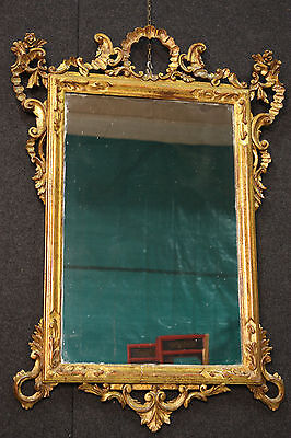MIRROR VENETIAN WOOD PAINT And GOLDEN PERIOD EARLY '900 (H 47 3/16in)