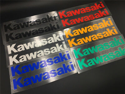 Tank Fairing Cover Fender Helmet Decal Stickers For Kawasaki Motors