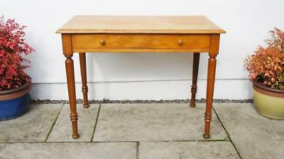 Early 20th c (dated 1917) Oak/Pine single drawer, writing table 99 cm x 58 cm
