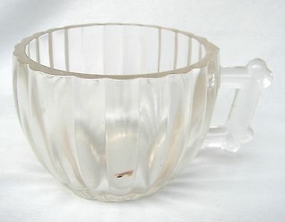 5 Jeannette Glass National Clear Glass Ribbed Punch Cups