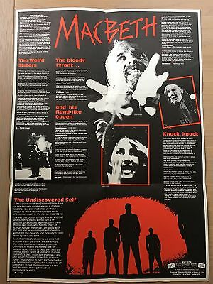MACBETH Cheek By Jowl Theatre Company 1987 POSTER PROGRAMME Shakespeare