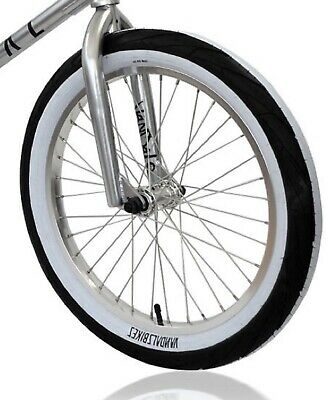PAIR 20 inch VANDALS 2.4 BMX Tyres Fat WHITEWALL Pair 20 x 2.40 SALE RRP £49.99