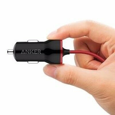 Anker 12W USB Car Charger, PowerDrive MFi-Certified Lightning Cable for iPhone 7