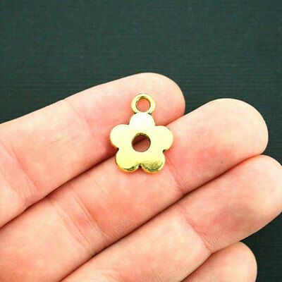 BULK 10 Flower of Life Charms Antique Gold Tone GC915