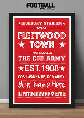 Fleetwood Town Fc Poster Print (Framed)