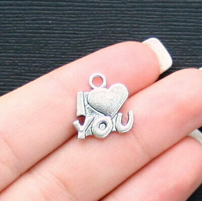 12 Taxi Charms Car Charms I Love New York Charms Antique Silver Tone 17x33 3334