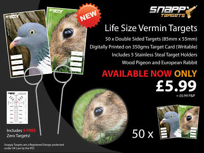 Life Size Vermin Targets - Air Rifle / Air Gun - Snappy Targets