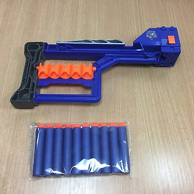 Nerf N-Strike Elite Stockade Stock Attachment Rampage Modulus & 10 New Darts