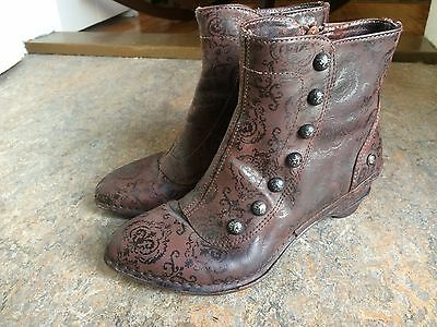 NEOSENS victorian style steampunk button granny womens shoes boots SZ 6 ?