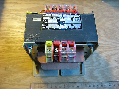 DERI 79110 Transformer 235VAC PRI to 110V SEC 50 Hz - USED