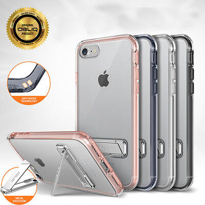 OBLIQ Naked Shield Kick Stand Clear Hard Slim Dual Layer Skin Case for iPhone 8