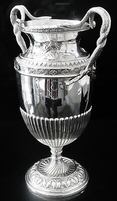 Silver Vase with Serpent Handles, Chester 1910, George Nathan & Ridley Hayes
