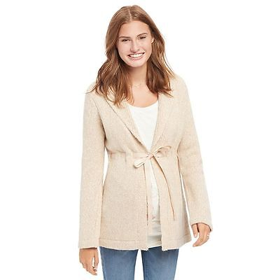 NWT Oh Baby by Motherhood Marled Cardigan Sweater SZ Large,  Natural
