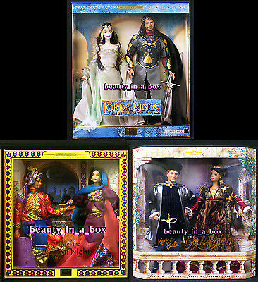 Lord of the Rings Barbie Doll Ken Arabian Nights Romeo Juliet Shelf Wear Lot 3