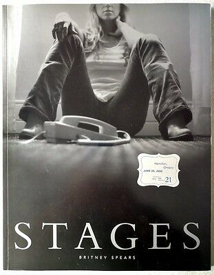 "Wow! *ultra Rare #01/21* Autographed  ""stages"" Collectible Book, Britney Spears"