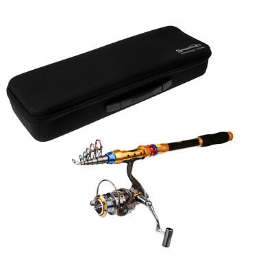 Fishing Rod and Reel Combos Telescopic Rod Spinning Reel + Tackle Bag Case