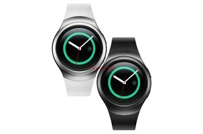 Samsung Gear S2 SM-R720 Smartwatch Black or White Stainless Steel Silver Buckle