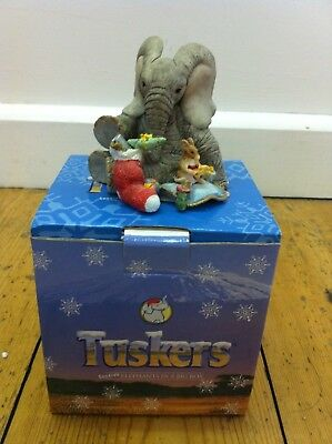 "Tuskers ""Morning After"" elephant collectable"